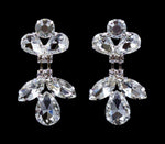 Earrings - Dangle #16691 - Rhinestone Raindrop Crystal Earrings
