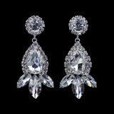 Earrings - Dangle #16699 - Rhinestone Raindrop Earrings