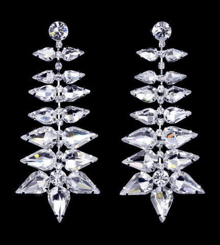 Earrings - Dangle #16917 - Ice Crystal Earrings - 2.75""