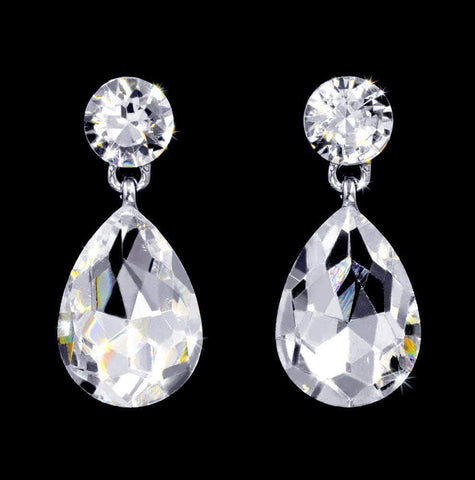 Earrings - Dangle #16999 - Pear Statement Drop Earrings - 1""