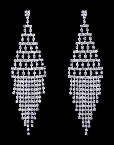 Earrings - Dangle #17071 - Geometric Fringe Earrings - 3.75""