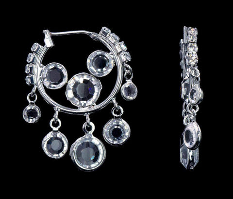 Earrings - Hoop #16933 - Crystal Drops Hoop Earrings