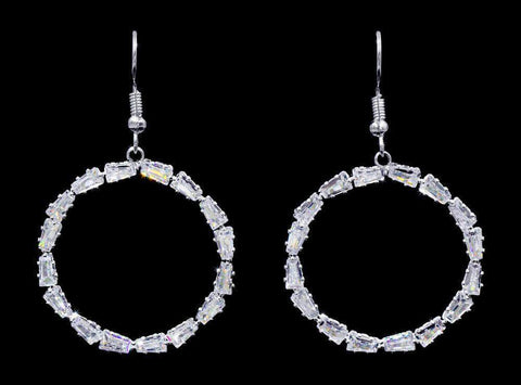 Earrings - Hoop #17006 - Trapezoidal Hoop Earring - 2""