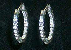 Earrings - Hoop Front and Back Hoop Earrings #11074E
