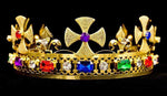 Men's Crowns and Scepters #16317MG Royal King's Adjustable Crown -  Multi Gold