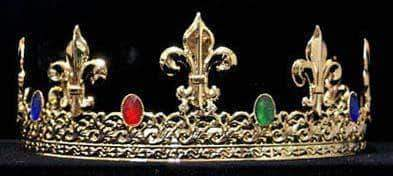 Men's Crowns and Scepters King's Crown #13082 - Gold