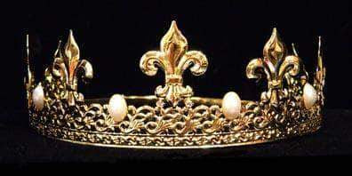 Men's Crowns and Scepters King's Crown #13082 - Gold PEARL