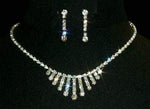 Necklace Sets - Low price #12860 Graduated Spray Freeze Necklace and Earring Set