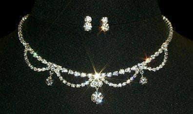 Necklace Sets - Low price #12874 Loop Drop Necklace and Earring Set