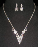 Necklace Sets - Low price #13818 - Floral Peak Neck and Ear Set
