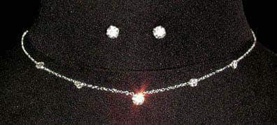 Necklace Sets - Low price #13957 Simple Neck and Ear Set