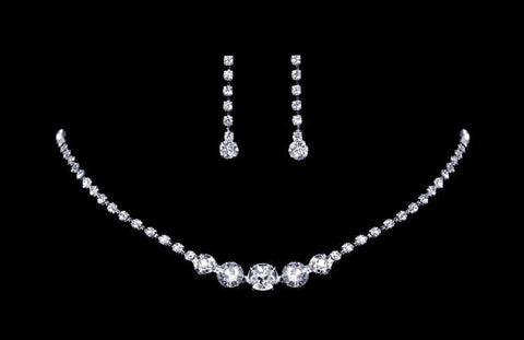 Necklace Sets - Low price #14280 - Fine Graduated Center Neck and Ear Set
