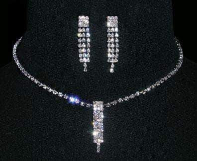 Necklace Sets - Low price #14419 - Crystal Waterfall Necklace and Earring Set