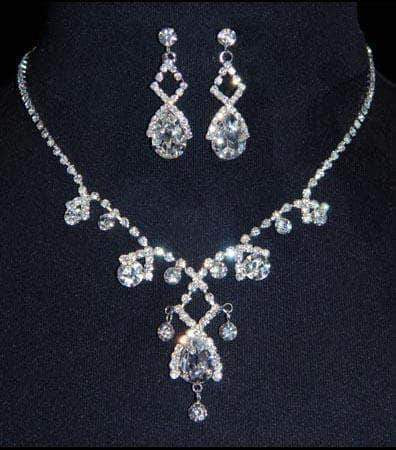 Necklace Sets - Low price #14427 - Gated Pear Necklace Set