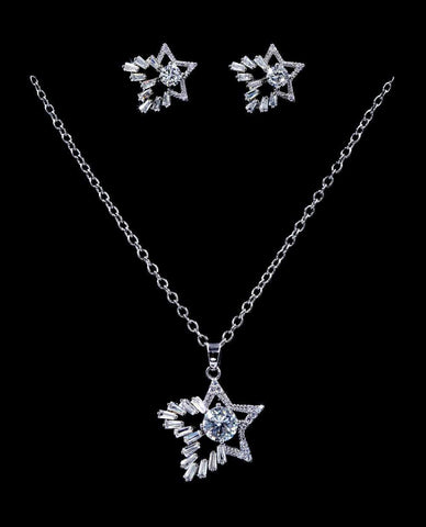 Necklace Sets - Low price #16817 - Shooting Star CZ Necklace and Earring Set