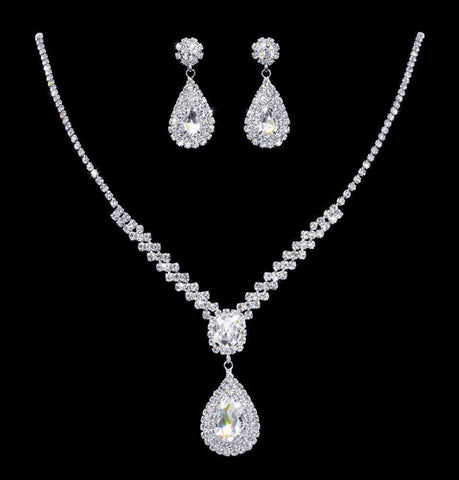 Necklace Sets - Low price #17008 - Zig Zag Pear Drop Necklace