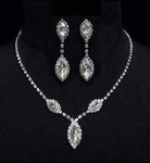 Necklace Sets - Low price #6983 - Triple Navette Drop Necklaces and Ear Set - Crystal