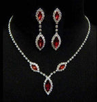 Necklace Sets - Low price #6983 - Triple Navette Drop Necklaces and Ear Set - Siam
