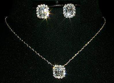 Necklace Sets - Low price Octagon Necklace and Earring Set - #10423