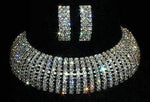 Necklaces - Collars 10 Row Adjustable Rhinestone Choker