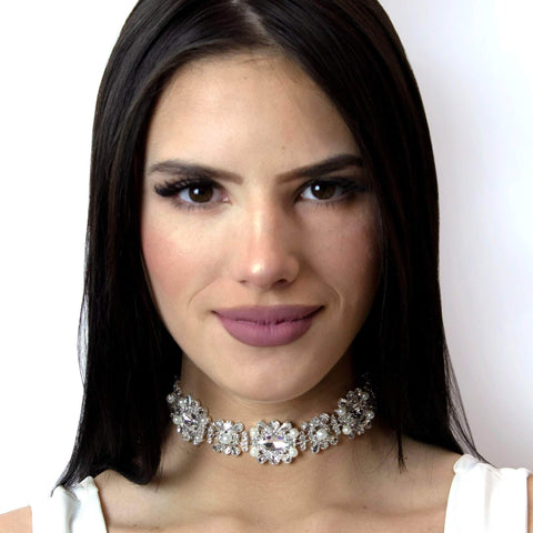 Necklaces - Collars #16705 - Oval Pearl Cluster Choker