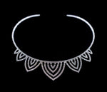 Necklaces - Collars #16726 - Shadowing Igloo Rhinestone Coil Collar Necklace