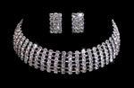 Necklaces - Collars 6 Row Adjustable Rhinestone Choker