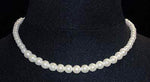 Pearl Neck & Ears #9589-16 - Graduated Simulated White Pearl Necklace - 16""