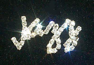 Pins - Dance/Music #11872 Script Rhinestone Jazz Pin