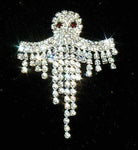 Pins - Halloween #10966 Dangling Crystal Ghost Pin