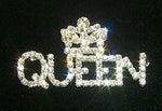 Pins - Pageant & Crown #11887 Rhinestone Queen with Crown Pin