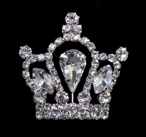 Pins - Pageant & Crown #11895 Rhinestone Crown Pin