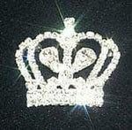 Pins - Pageant & Crown #11896 Rhinestone Crown Pin