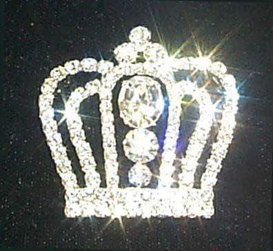Pins - Pageant & Crown #11898 Rhinestone Crown Pin
