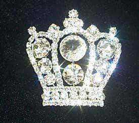 Pins - Pageant & Crown #11899 Rhinestone Crown Pin