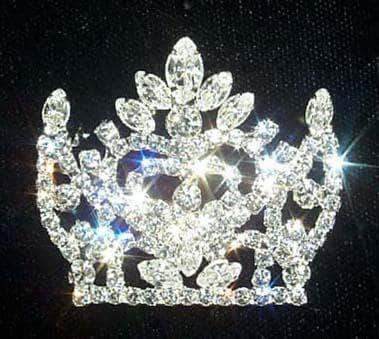 Pins - Pageant & Crown #12153 Fancy Crown Pin