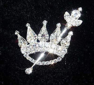 Pins - Pageant & Crown #12336 - Crown and Scepter Pin