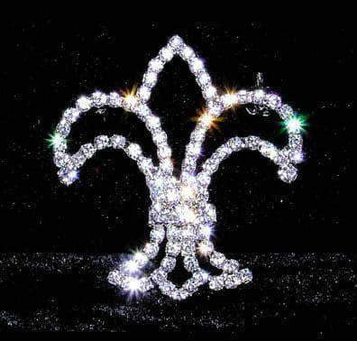 Pins - Pageant & Crown #13609 - Delicate Fleur de Lis Pin