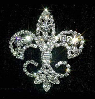 Pins - Pageant & Crown #13610 - Fleur de Lis Elegance Pin