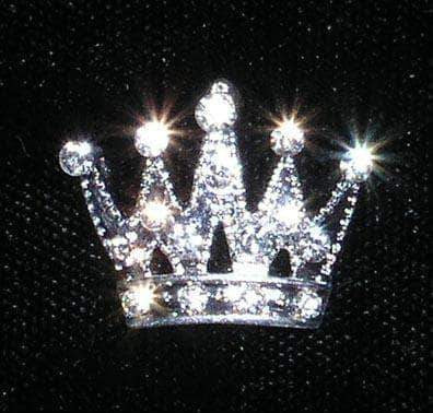 Pins - Pageant & Crown #14667 - Small Trimmed Crown Pin