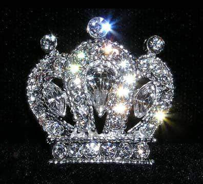 Pins - Pageant & Crown #14669 - Cluster Royal Crown Pin