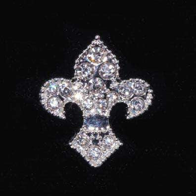 Pins - Pageant & Crown #15888s Fleur de Lis Tack Pin - Silver Plated