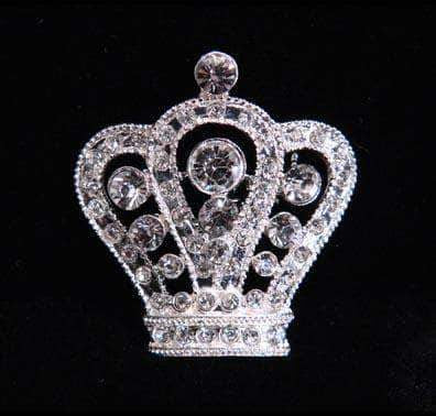 "Pins - Pageant & Crown #16064 - Regal Crown Pin - 1.5"" Tall"