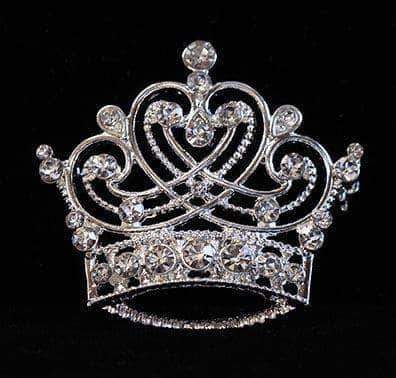 Pins - Pageant & Crown #16123 - Swirling Heart Crown Pin