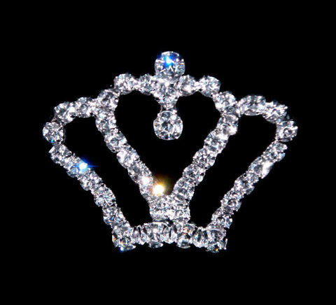 Pins - Pageant & Crown #16173 - Sweetheart Crown Pin