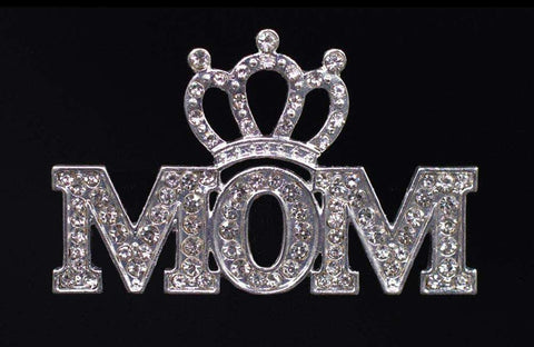 Pins - Pageant & Crown #16522 - Crowned Mom Pave Pin