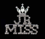 Pins - Pageant & Crown #16600 Rhinestone JR Miss with Crown Pin