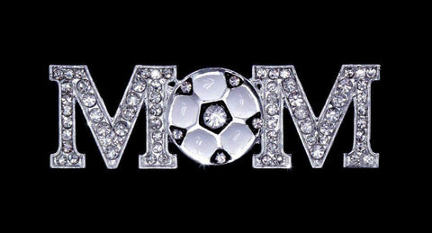 Pins - Patrioitic & Support #16633 - Rhinestone Soccer Mom Pin