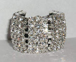 Pony Tail Holders #15043 - Rhinestone Block Elastic Ponytail Holder