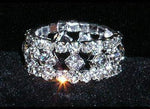 Rings #15396 Diamond Center Stretch Rhinestone Ring